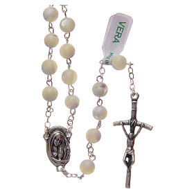 Rosary in imitation crystal, green colour 6mm s1
