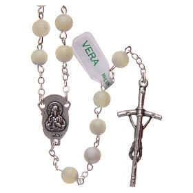 Rosary in imitation crystal, green colour 6mm s2