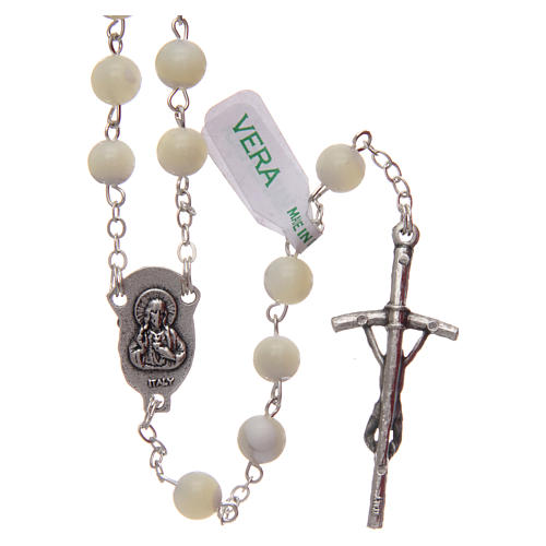 Rosary in imitation crystal, green colour 6mm 2