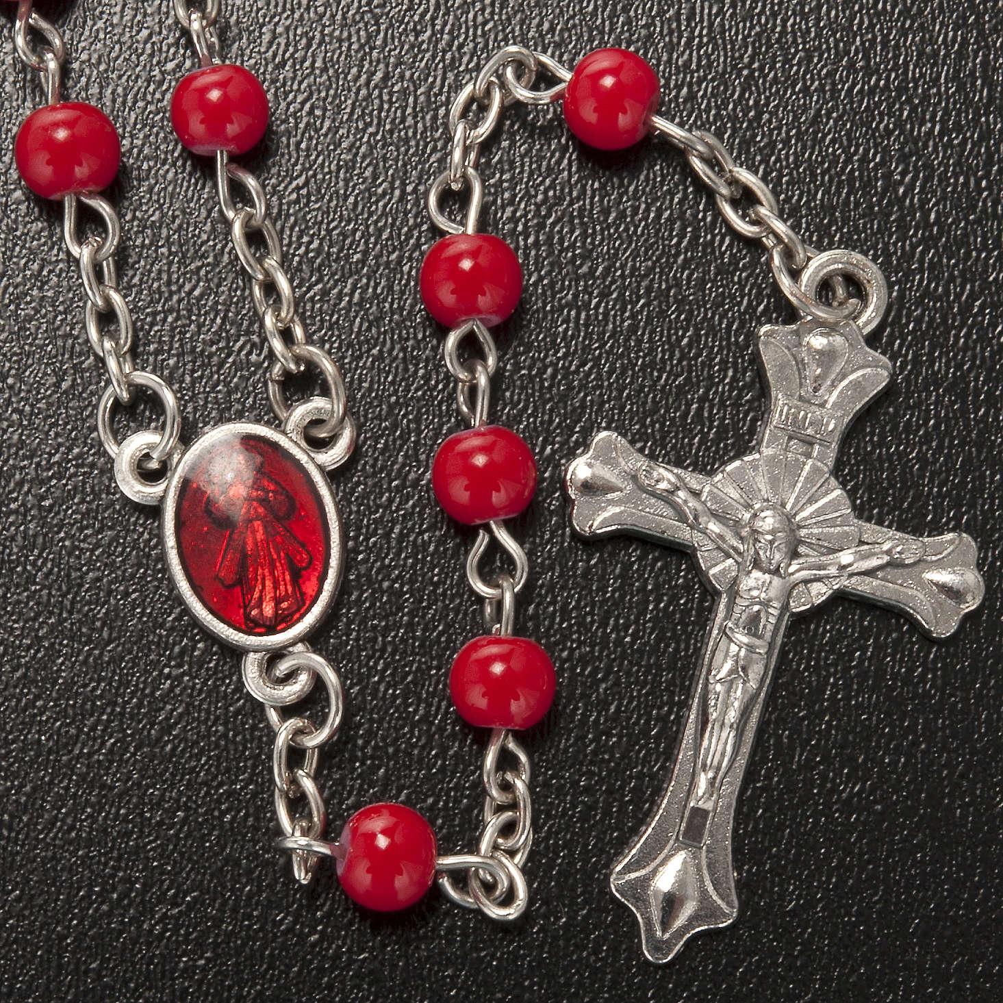 Rosario vetro rosso Gesù 4