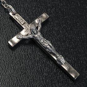 Rosario vetro Madonna di Gonare azzurro giallo nero s4