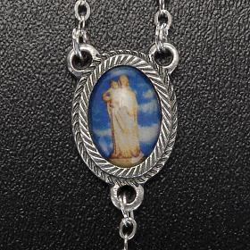 Rosario vetro Madonna di Gonare azzurro giallo nero s5