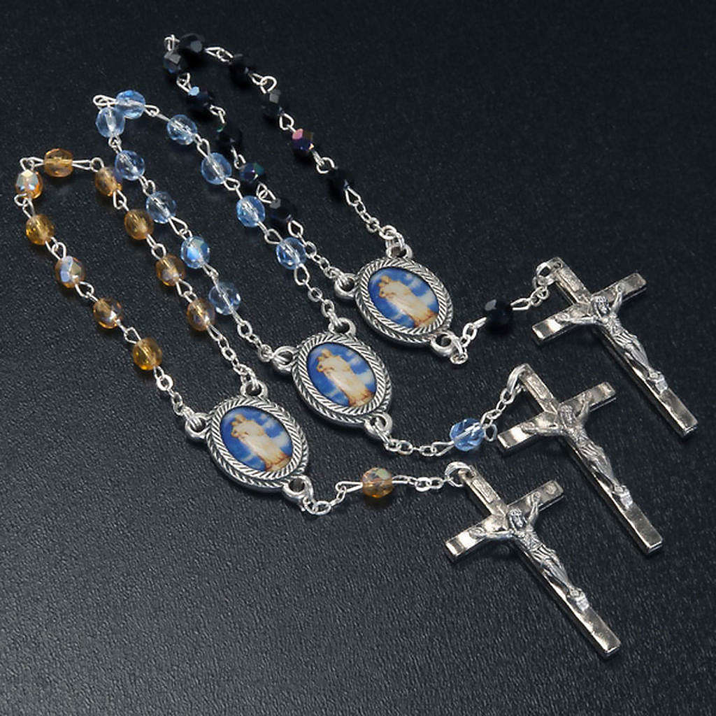 Decade glass beads rosary, Our Lady 4