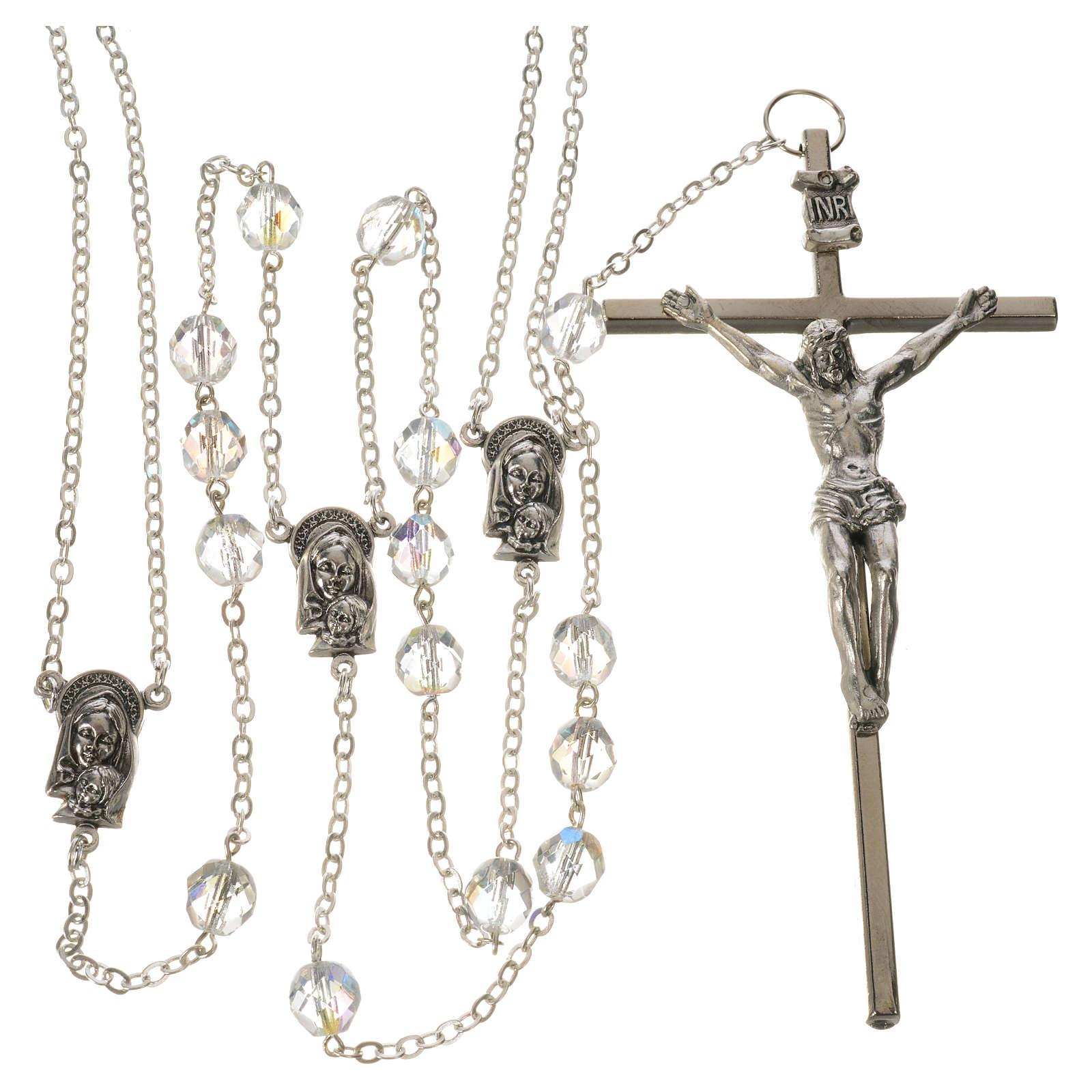 Wedding rosaries, crystal-like brads 8mm 4