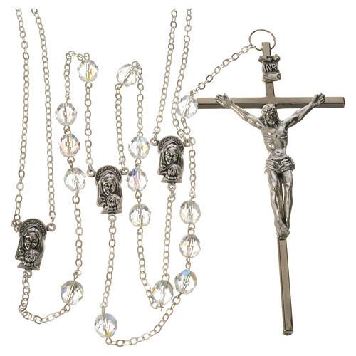 Wedding rosaries, crystal-like brads 8mm 1