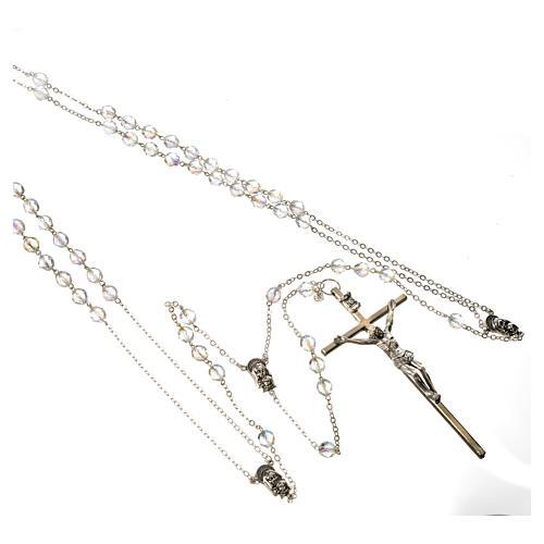 Wedding rosaries, crystal-like brads 8mm 2