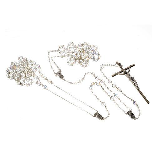Wedding rosaries, crystal-like brads 8mm 3