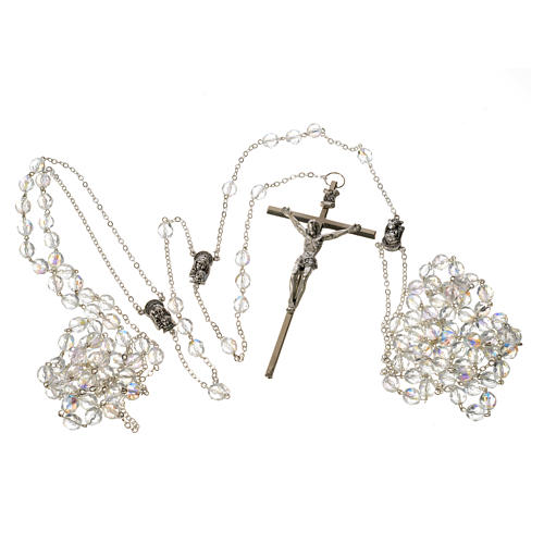 Wedding rosaries, crystal-like brads 8mm 5