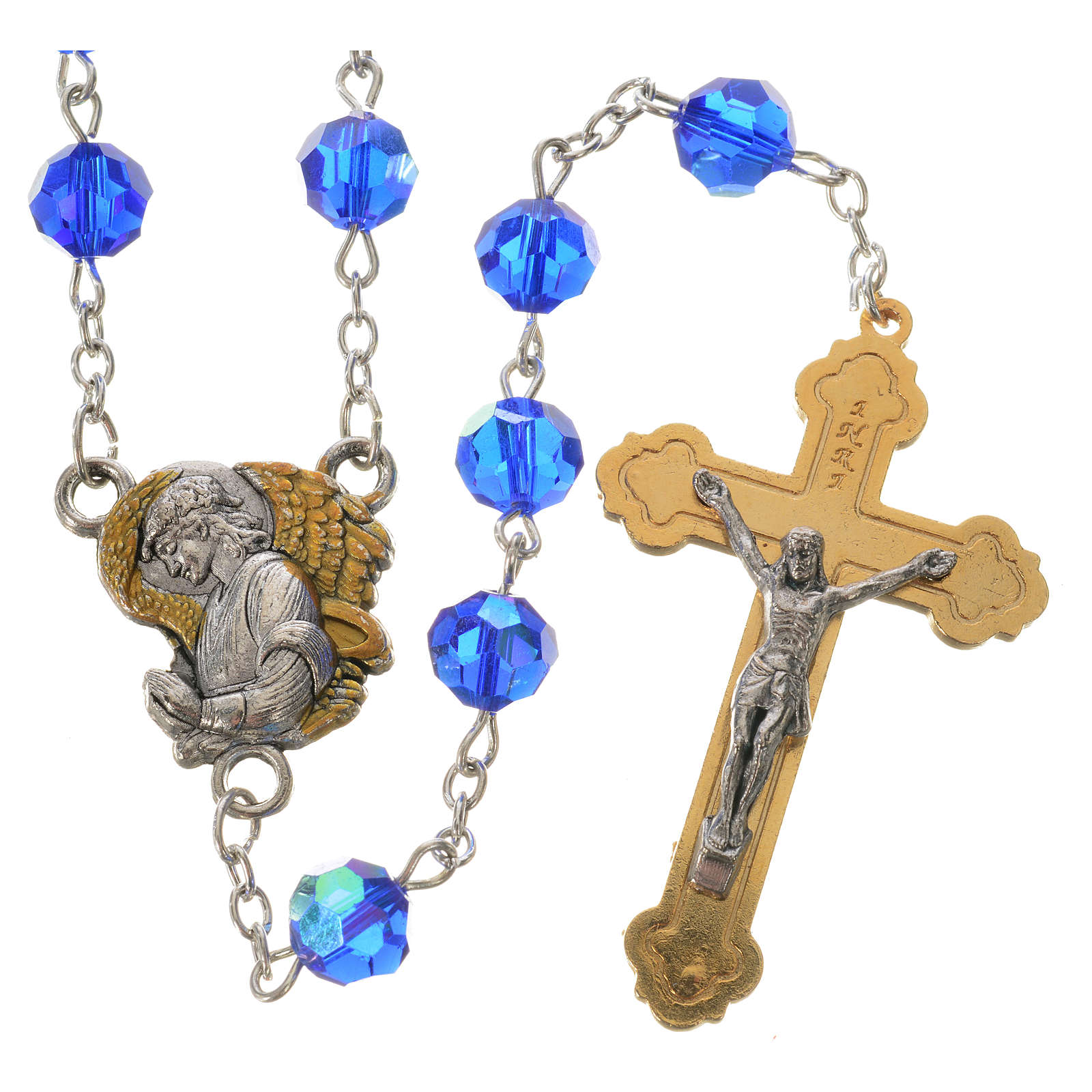 Rosary with Archangel in crystal 8mm 4
