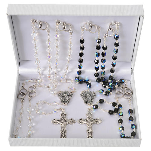 Wedding rosary beads, glass grains 7mm 6