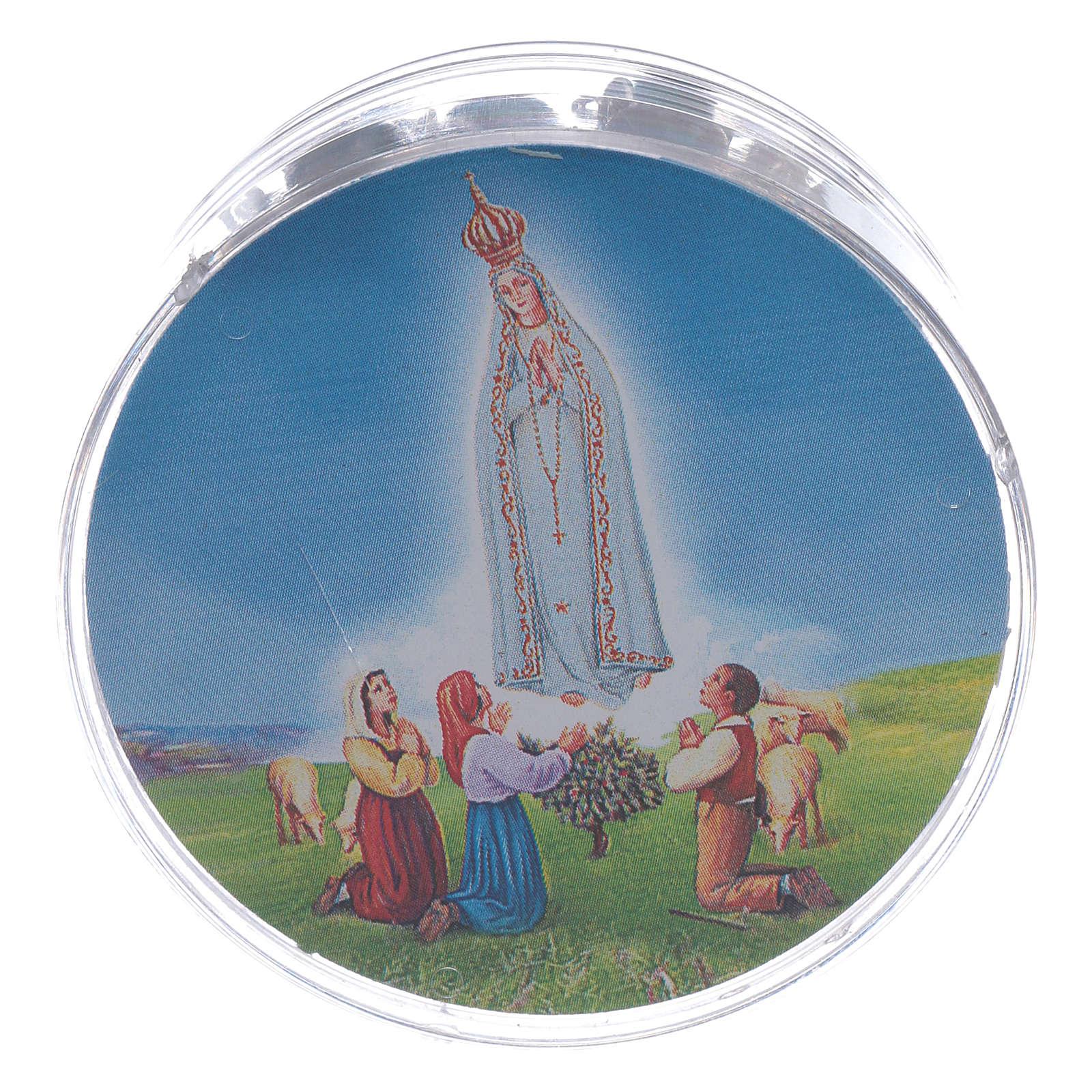 Rosario Nuestra Señora de Fátima cuentas azules ágata 4