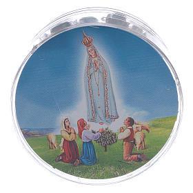 Rosario Madonna di Fatima grani vetro blu agata con scatola s5
