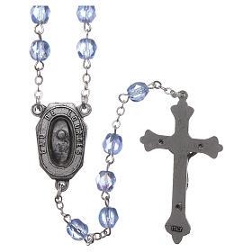 Rosario vetro devozionale Madonna di Lourdes acqua 4x3 mm s2