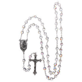 Glass rosary Our Lady of Lourdes water 4x3 mm s4