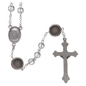 Rosario vetro Madonna di Lourdes 4 mm cristallo s2