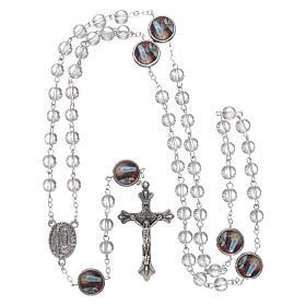 Rosario vetro Madonna di Lourdes 4 mm cristallo s4