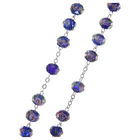 Glass rosary 7 mm blue s3