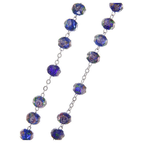 Glass rosary 7 mm blue 3