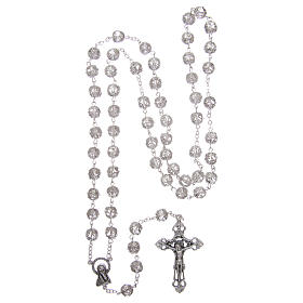 Rosary in glass 7x6 mm grains, transparent s4