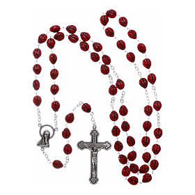 Rosary in glass with 6x5 mm ladybug-shaped grains s4