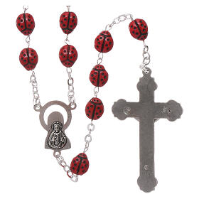 Glass rosary ladybug shaped beads 6 mm s2
