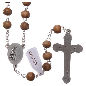 Franciscan rosary in olive wood with 4x5 mm grains s2