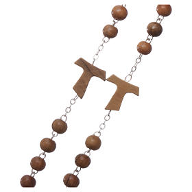 Franciscan rosary in olive wood with 4x5 mm grains s3