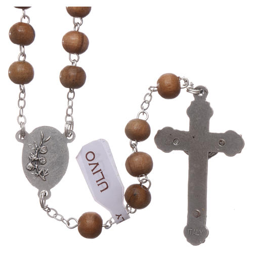 Franciscan rosary in olive wood with 4x5 mm grains 2