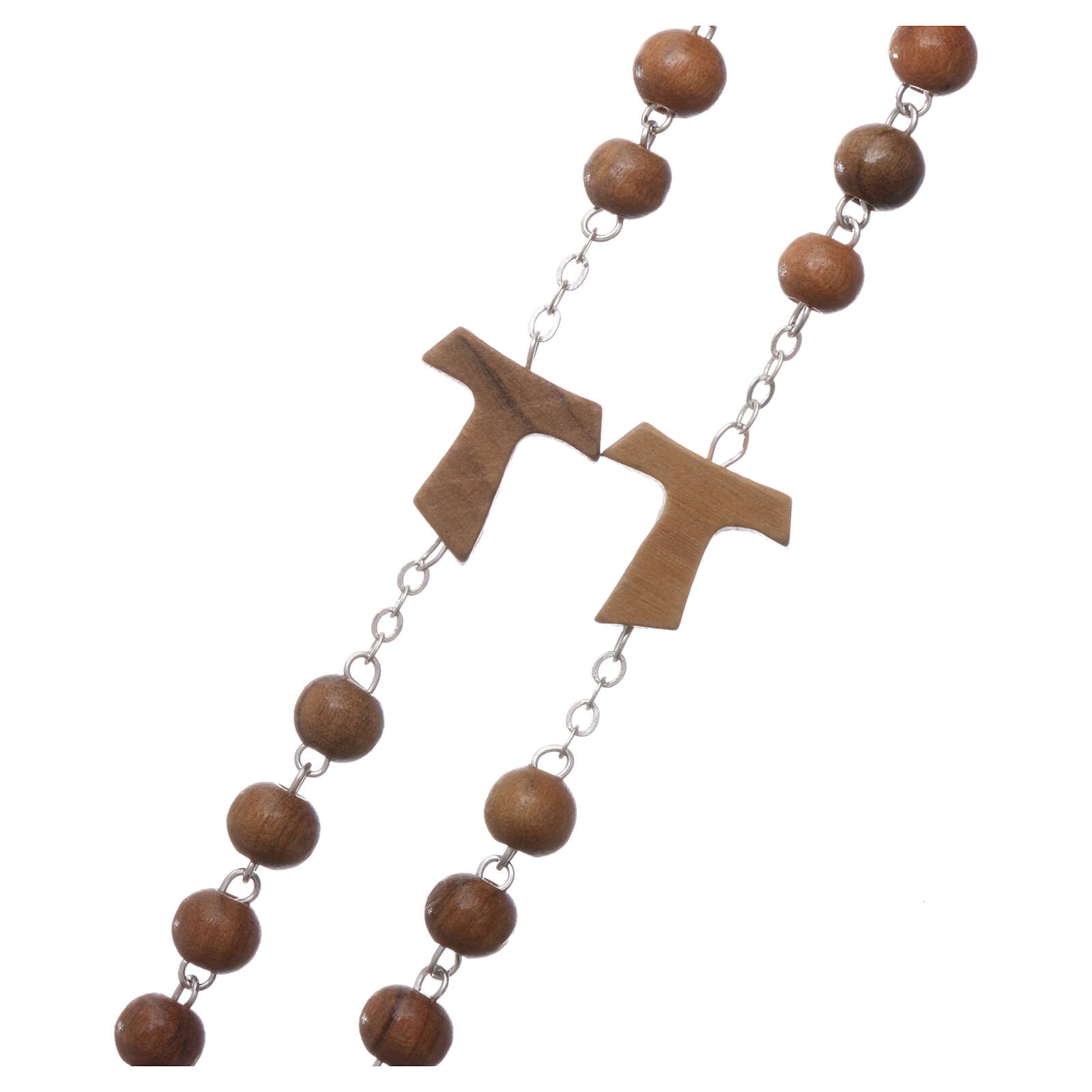 Franciscan rosary of olive wood 5 mm 4