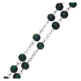 Rosario vidrio redondo verde 6 mm s3