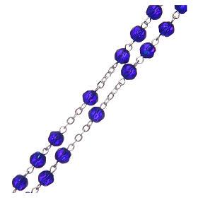 Terço meio-cristal azul escuro redondo 6 mm s3