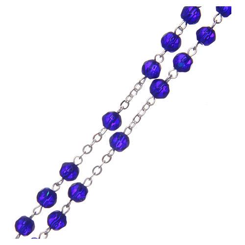Terço meio-cristal azul escuro redondo 6 mm 3
