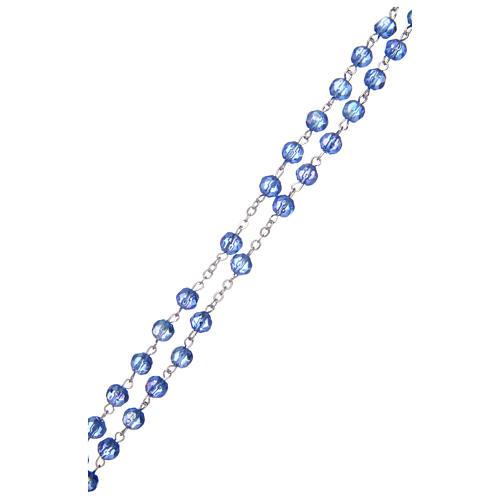Rosario semicristallo azzurro tondo 6 mm 3