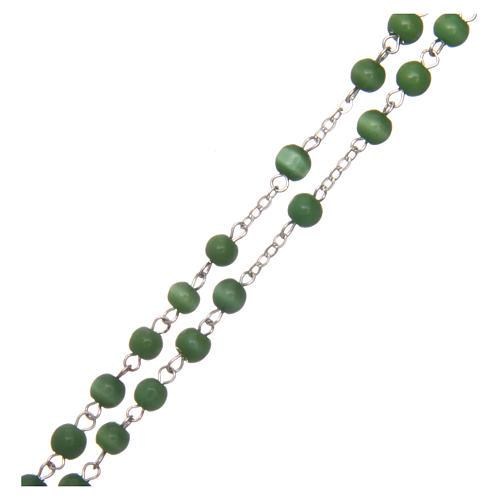 Rosario vetro grano tondo verde 5 mm  3