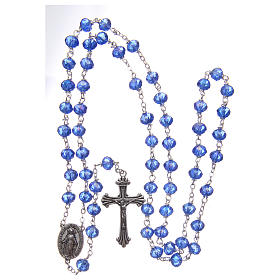 Rosary in blue faceted crystal 8 mm s4