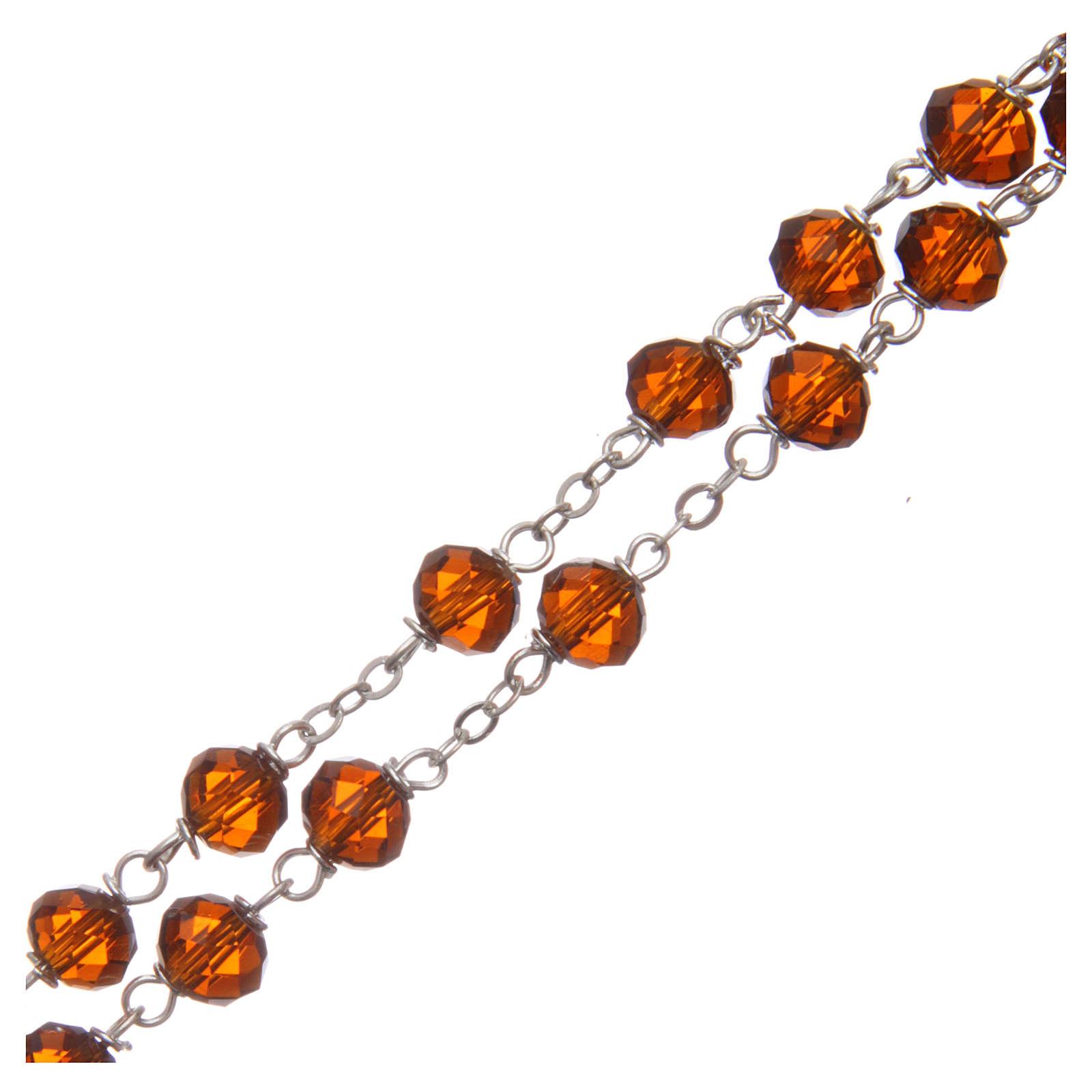 Chapelet cristal à facettes marron avec grains 8 mm 4