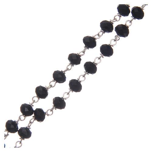 Chapelet cristal à facettes noir avec grains 8 mm 3