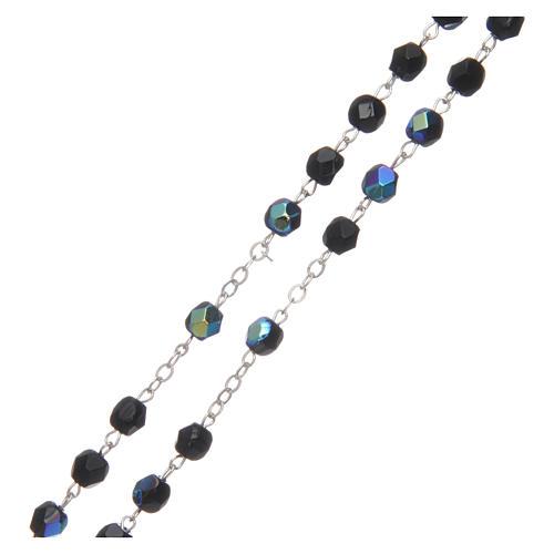 Chapelet semi-cristal 2 mm noir iridescent 3