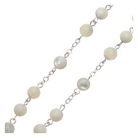 Rosary real mother-of-pearl round pearls 6 mm s3