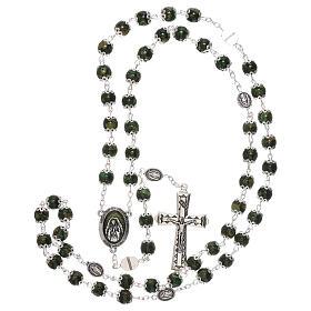 Rosario Madonna Guadalupe vetro verde 6 mm s4