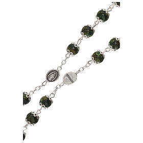 Our Lady of Guadalupe rosary green glass 6 mm s3