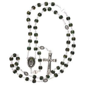 Our Lady of Guadalupe rosary green glass 6 mm s4