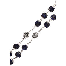 Miraculous Medal rosary blue glass 6 mm s3