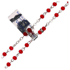 Rosary with beads in red glass 1 mm s3
