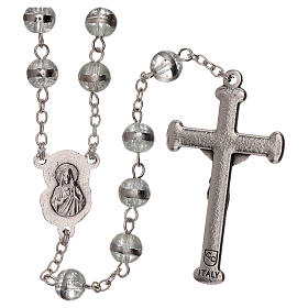 Rosary with transparent beads 3 mm s2