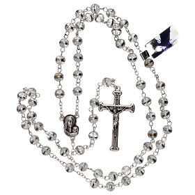 Rosary with transparent beads 3 mm s4