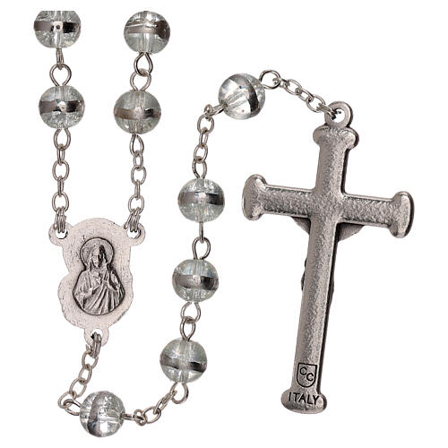 Rosary with transparent beads 3 mm 2