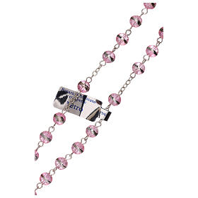 Rosary with lilac beads 3 mm s3