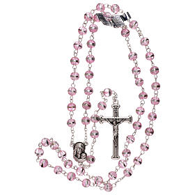 Rosary with lilac beads 3 mm s4