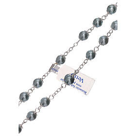 Rosario de vidrio perla celeste granos 3 mm s3